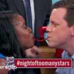 "The Twizzler Challenge got started on ""Night of Too Many Stars"" fundraiser when ""Today"" show's Willie Geist and Uzo Aduba of ""Orange Is the New Black"" were challenged to share a Twizzler ala ""Lady and the Tramp"" style. (Screengrab/YouTube)"