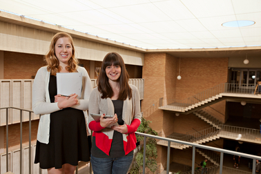 Two ASU students researching education strategies for students with autism