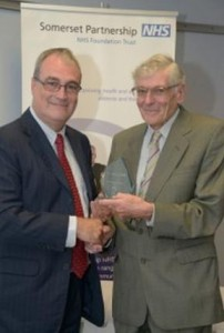 Campbell Main with Somerset Partnership NHS Foundation Trust Chairman Stephen Ladyman.