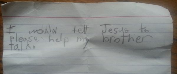 A Little Boy's Wish for His Autistic Big Brother to Talk