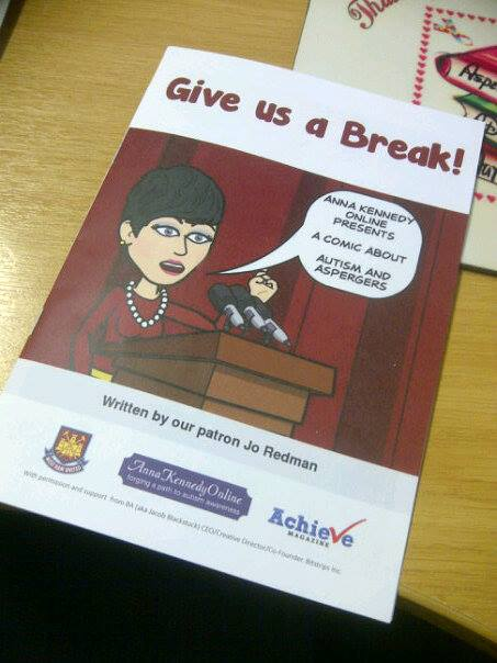 Anna Kennedy Online's Give us a Break! Autism Awareness Comic