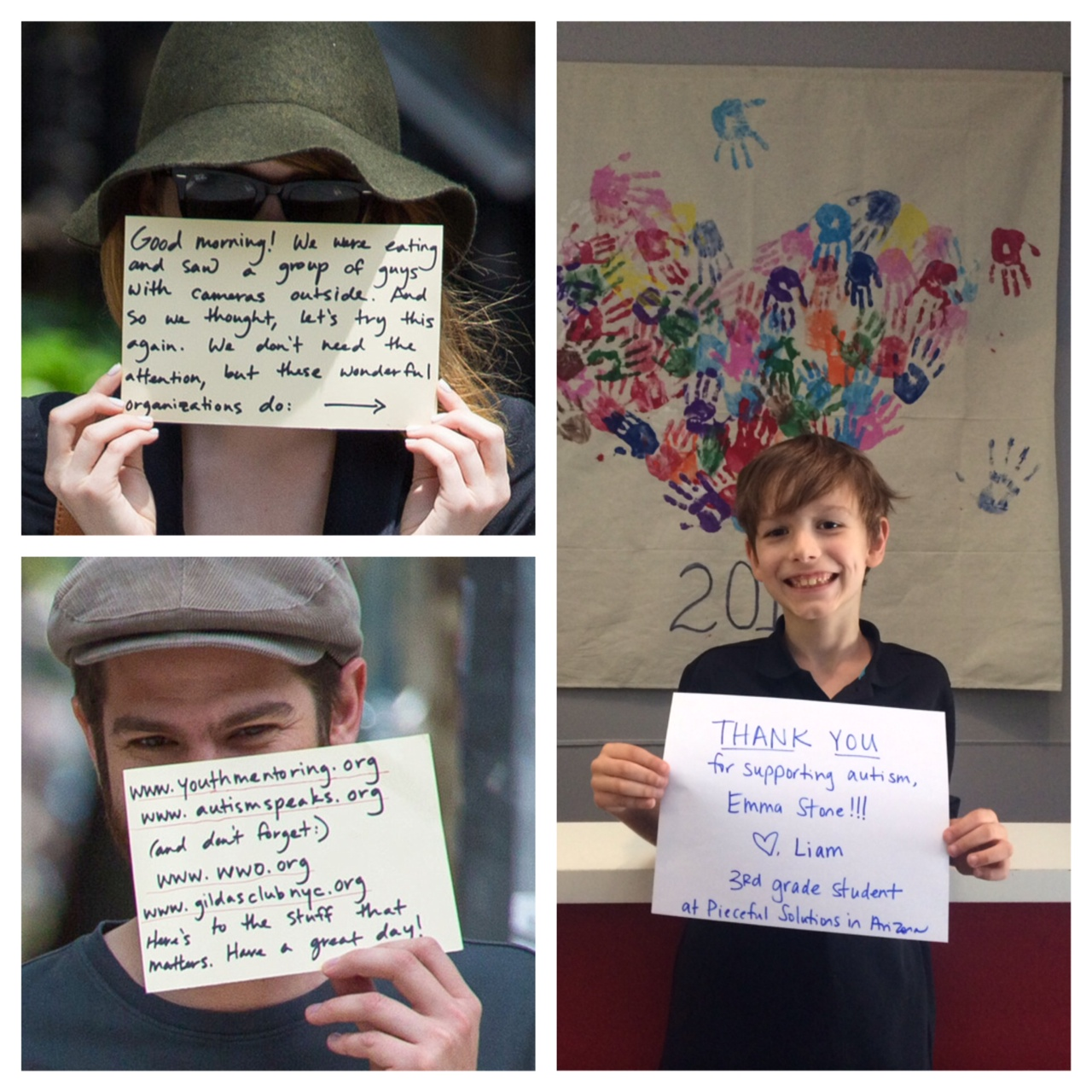 Emma Stone and Andrew Garfield are using their visibility to raise awareness of Autism