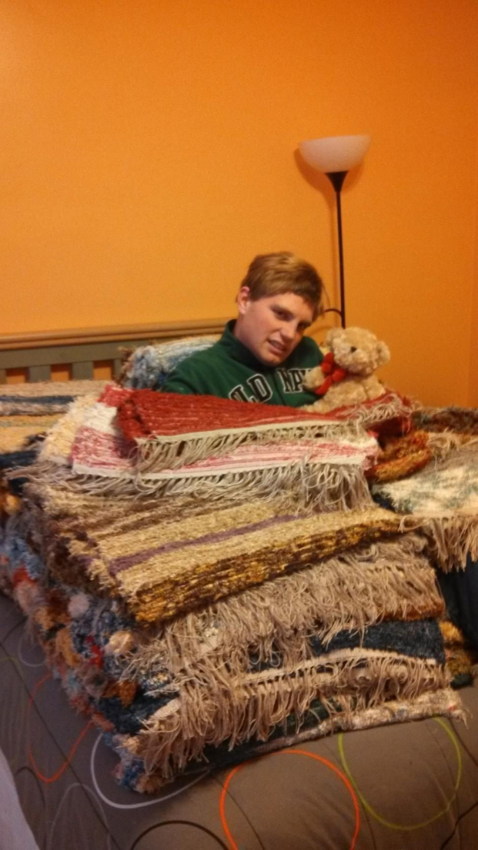 Billy DeMink, 21 Year Old With Autism Weaves Rugs for Super Storm Sandy Victims