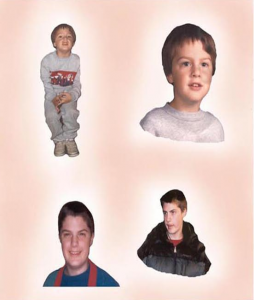 Eric at various ages