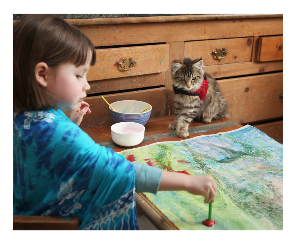 Iris Grace Painting – an inspiring 4 year old little girl who paints Part 1