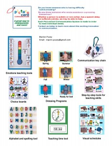 Picture Card Communication  -  flyer for children`s products