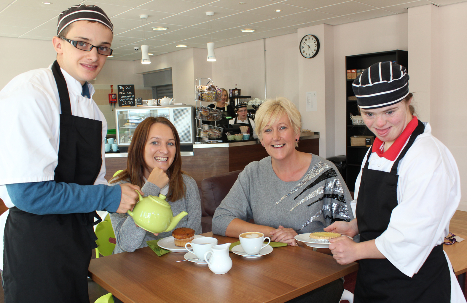 Students with learning difficulties gain first-hand work experience thanks to their own innovative community café.