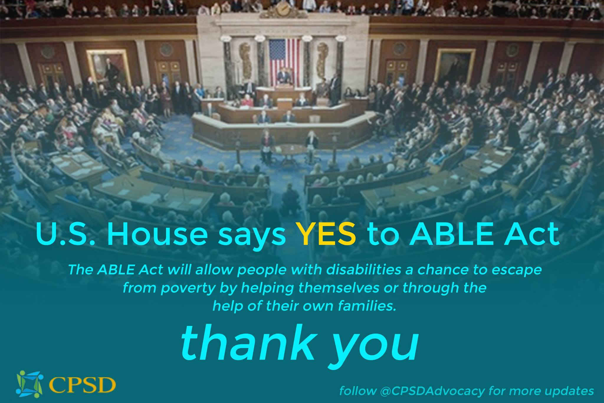 U.S. House Approves ABLE Act 404-17