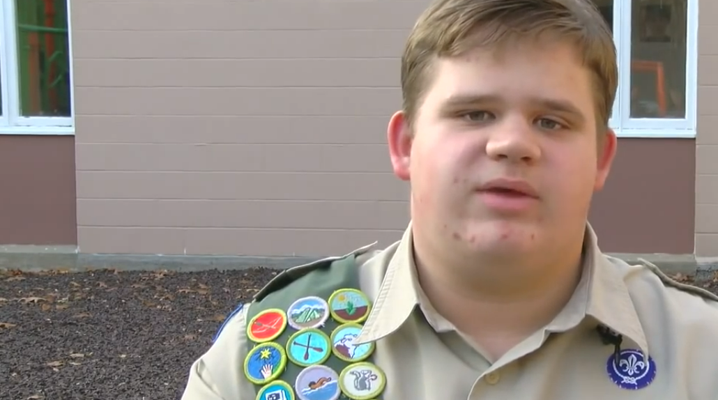 Boy scout with autism makes autism awareness video