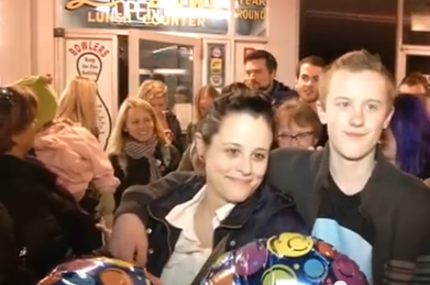 Hundreds show up at birthday party for Odin, a boy with asperger's – w/video