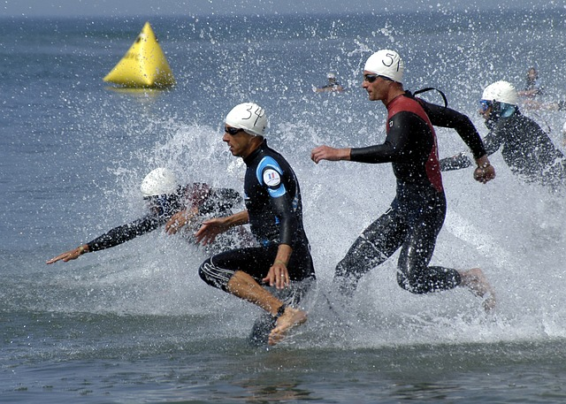 Jackson Gallagher and Alex Rowe compete in Elite Energy Olympic Triathlon to raise autism awareness