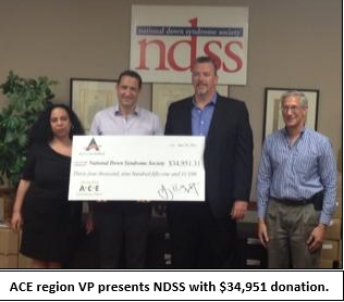 Press Release – ACE Supports National Down Syndrome Society with $34,951