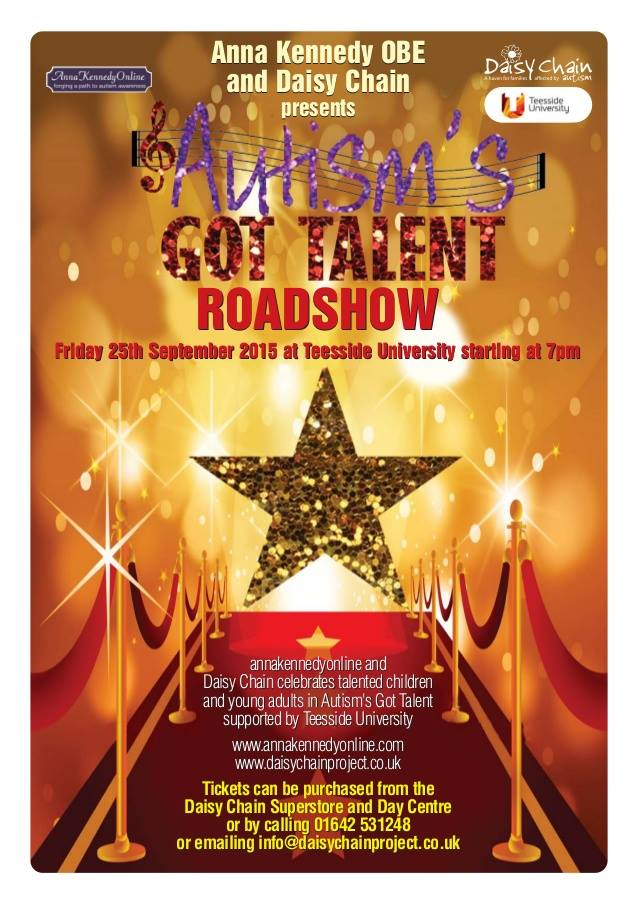 Press Release – Autism's got Talent Roadshow comes to Middlesbrough!!